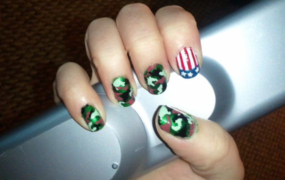 Obsession Alert! Camo Nails