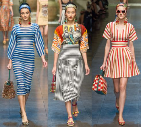 dolce gabbana stripes spring summer 2013