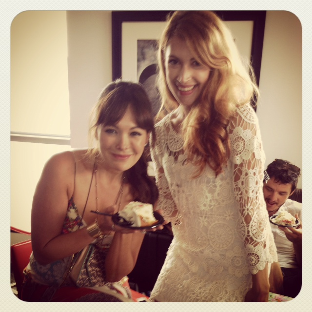 Lindsay and I having our cake!