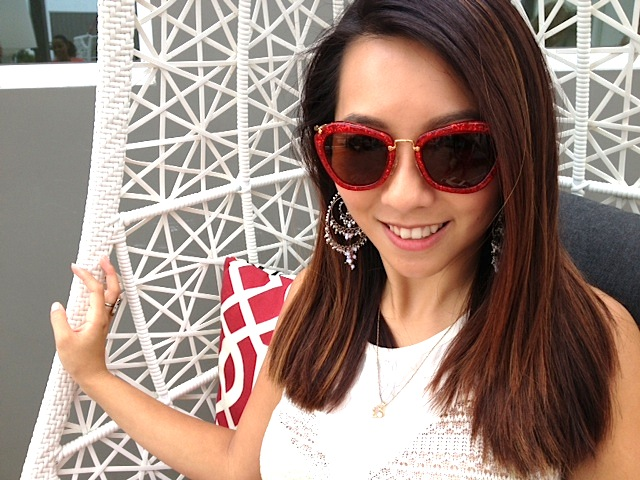 Our girl Iris looking fab in her Miu Miu shades.