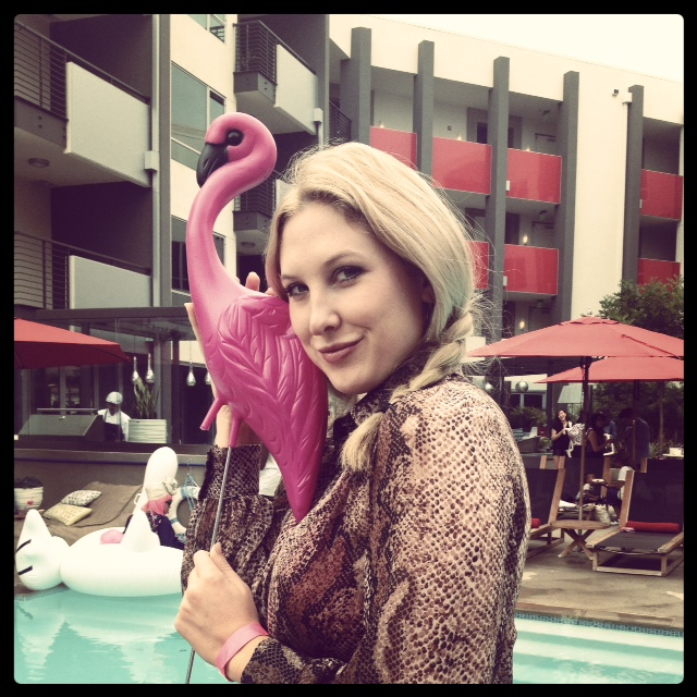 Megyn B, our Advice contributor and her flamingo