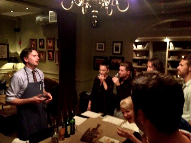 Passionate bartender and excited audience!