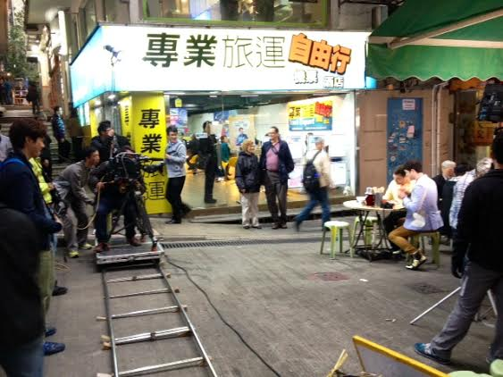 Film making in Central HK
