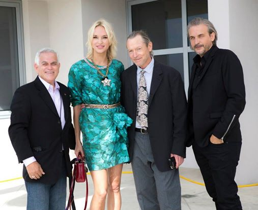 From left, cinematographer George Leon, Inna Zobova, Fred Sweet, and Bruno Aveillan.