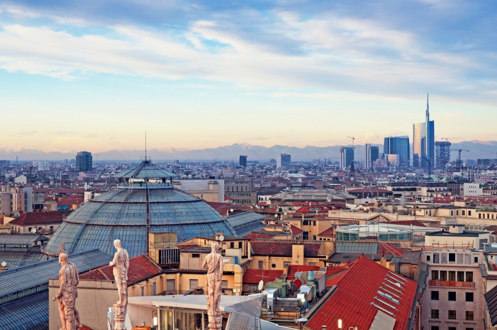 Milan-skyline-from-Milan-Cathedral-and-Duomo-di-Milano-in-Italy