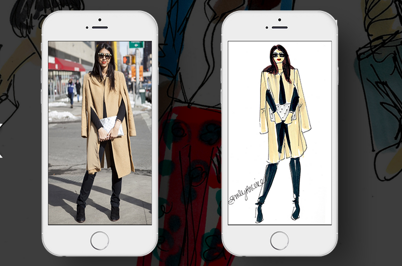 Have a Fashion Illustrator Sketch Your Street Style with this Fab New App!