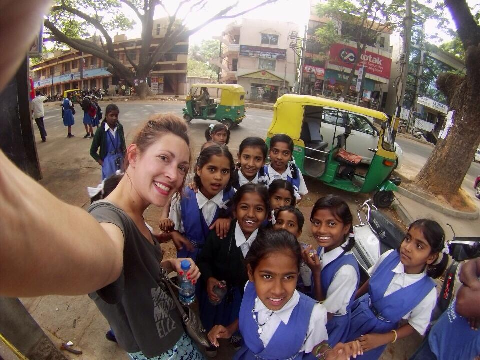 The students outside of Bangalore were quite interested in me.