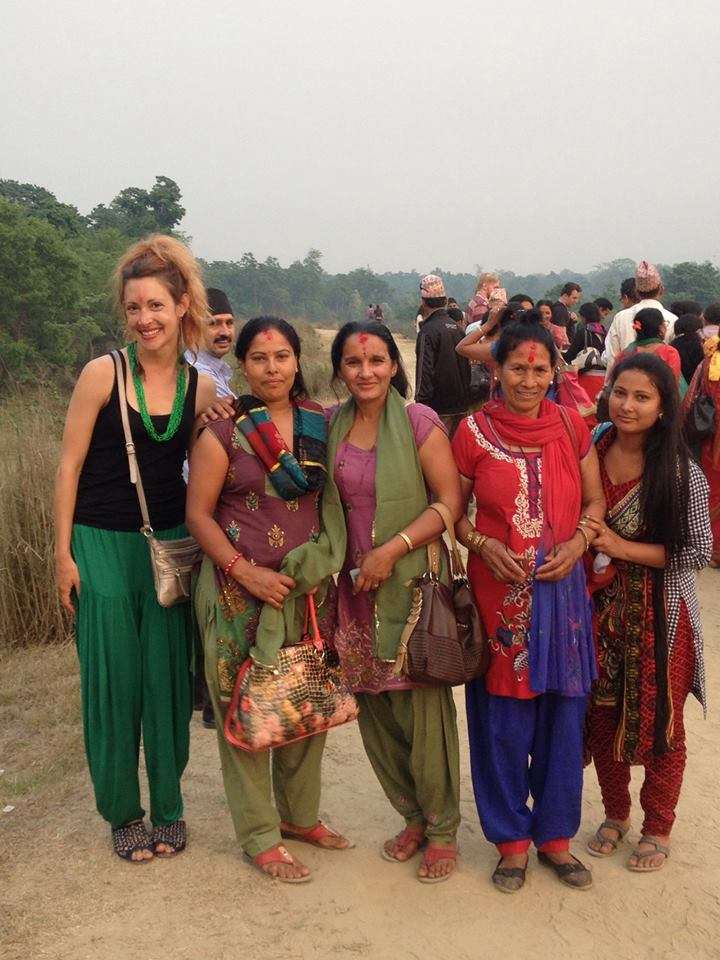 With the lovely local ladies of Nepal