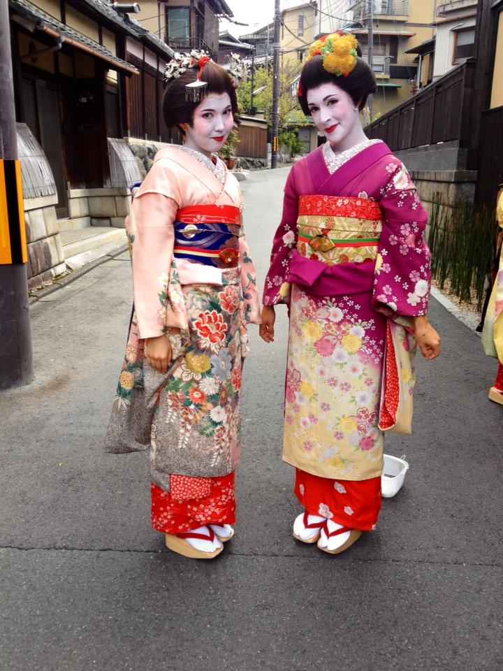 Dressing up as Geisha in Kyoto with my friend Agriem
