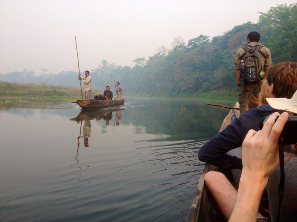 A canoe ride through the jungles of Chitwan