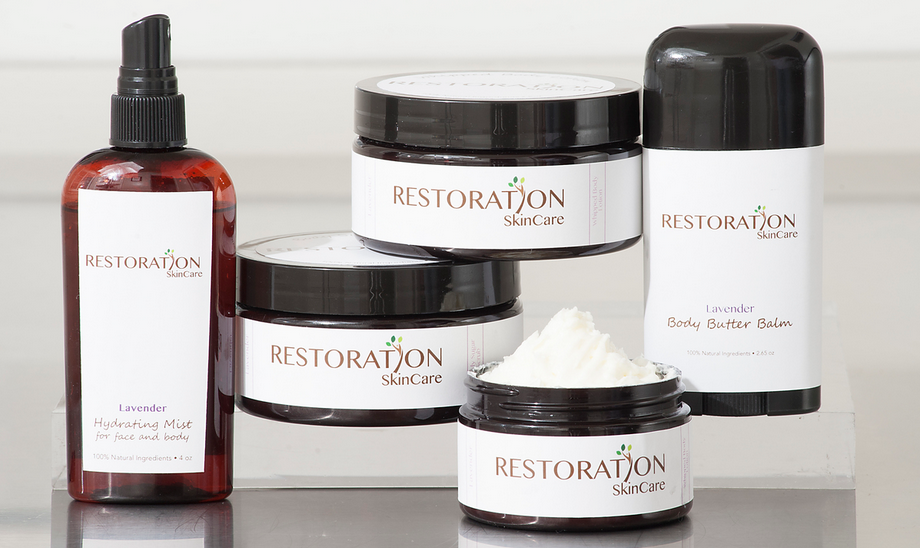 Glossy. Sexy. Natural. Restoration Skincare!